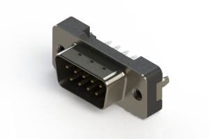 627-009-326-216 - Vertical Plastic Body D-Sub Connector