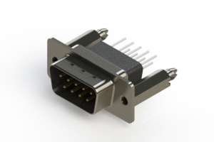 627-009-361-076 - Vertical Metal Body D-Sub Connector