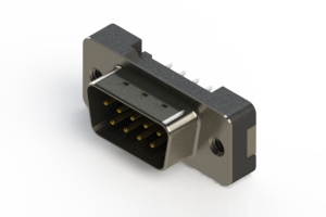 627-009-620-012 - Vertical Plastic Body D-Sub Connector