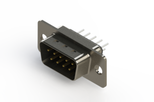 627-009-620-041 - Vertical Metal Body D-Sub Connector