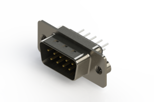 627-009-620-042 - Vertical Metal Body D-Sub Connector