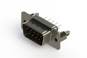 627-009-620-046 - Vertical Metal Body D-Sub Connector