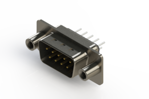627-009-620-048 - Vertical Metal Body D-Sub Connector