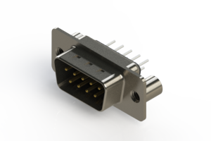 627-009-620-049 - Vertical Metal Body D-Sub Connector