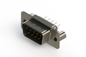 627-009-620-069 - Vertical Metal Body D-Sub Connector