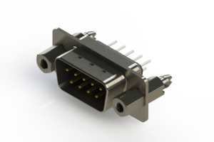 627-009-620-247 - Vertical Metal Body D-Sub Connector