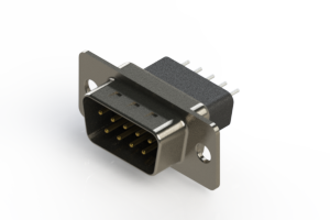 627-009-621-051 - Vertical Metal Body D-Sub Connector