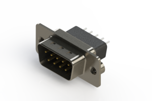 627-009-621-052 - Vertical Metal Body D-Sub Connector