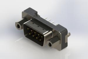 627-009-624-217 - Vertical Plastic Body D-Sub Connector