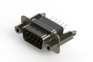 627-009-641-257 - Vertical Metal Body D-Sub Connector