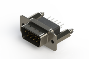 627-009-651-076 - Vertical Metal Body D-Sub Connector