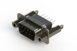 627-009-651-077 - Vertical Metal Body D-Sub Connector