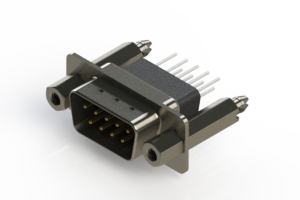 627-009-661-257 - Vertical Metal Body D-Sub Connector