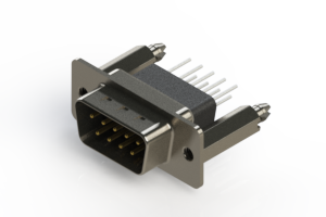 627-009-671-076 - Vertical Metal Body D-Sub Connector