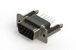 627-009-671-256 - Vertical Metal Body D-Sub Connector