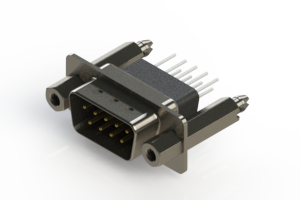 627-009-671-257 - Vertical Metal Body D-Sub Connector