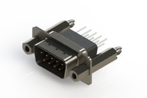 627-009-671-277 - Vertical Metal Body D-Sub Connector