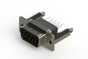 627-009-681-076 - Vertical Metal Body D-Sub Connector