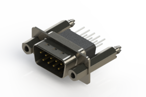627-009-681-257 - Vertical Metal Body D-Sub Connector