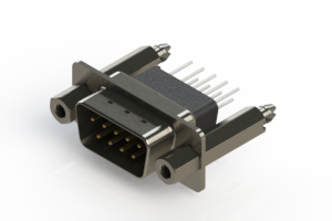 627-009-681-277 - Vertical Metal Body D-Sub Connector