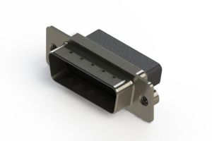 627-015-010-252 - Vertical Metal Body D-Sub Connector