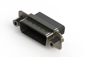627-015-010-253 - Vertical Metal Body D-Sub Connector