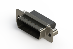 627-015-010-259 - Vertical Metal Body D-Sub Connector