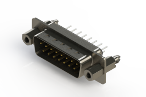 627-015-220-067 - Vertical Metal Body D-Sub Connector