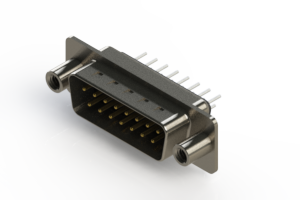 627-015-220-068 - Vertical Metal Body D-Sub Connector