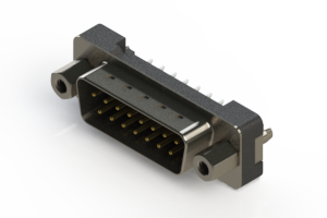 627-015-220-217 - Vertical Plastic Body D-Sub Connector