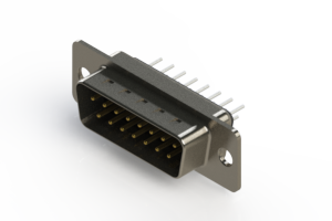 627-015-220-241 - Vertical Metal Body D-Sub Connector