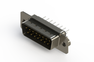 627-015-220-242 - Vertical Metal Body D-Sub Connector
