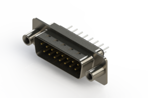 627-015-220-248 - Vertical Metal Body D-Sub Connector