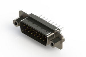 627-015-220-263 - Vertical Metal Body D-Sub Connector