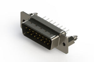 627-015-220-266 - Vertical Metal Body D-Sub Connector