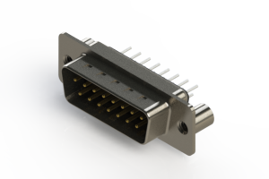 627-015-220-269 - Vertical Metal Body D-Sub Connector