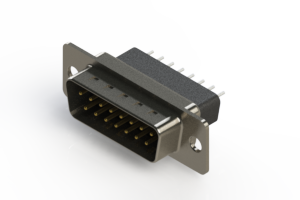 627-015-221-051 - Vertical Metal Body D-Sub Connector