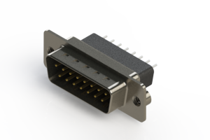 627-015-221-052 - Vertical Metal Body D-Sub Connector