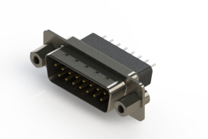 627-015-221-053 - Vertical Metal Body D-Sub Connector
