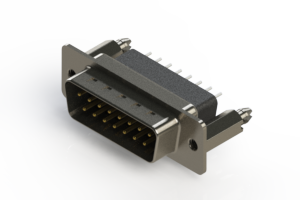 627-015-221-056 - Vertical Metal Body D-Sub Connector