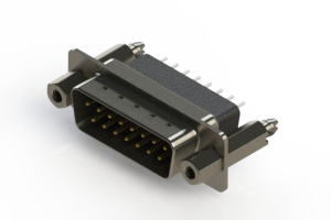 627-015-221-057 - Vertical Metal Body D-Sub Connector