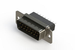 627-015-221-071 - Vertical Metal Body D-Sub Connector