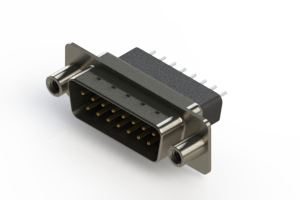 627-015-221-078 - Vertical Metal Body D-Sub Connector