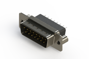 627-015-221-079 - Vertical Metal Body D-Sub Connector