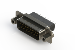 627-015-221-253 - Vertical Metal Body D-Sub Connector