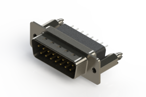 627-015-221-256 - Vertical Metal Body D-Sub Connector