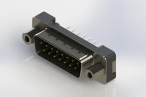627-015-224-213 - Vertical Plastic Body D-Sub Connector