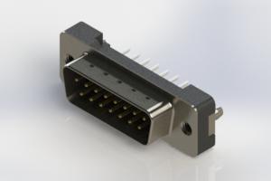 627-015-224-216 - Vertical Plastic Body D-Sub Connector