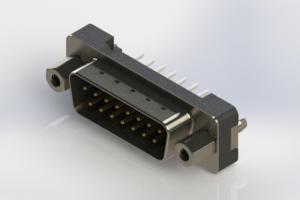 627-015-224-217 - Vertical Plastic Body D-Sub Connector