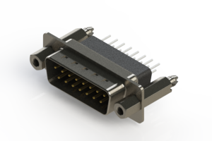 627-015-241-077 - Vertical Metal Body D-Sub Connector
